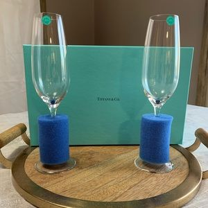 BRAND NEW Tiffany & Co. Champagne Flutes